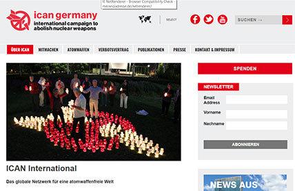 Quelle: Initiative zur Abschaffung von Atomwaffen ICAN screenshot