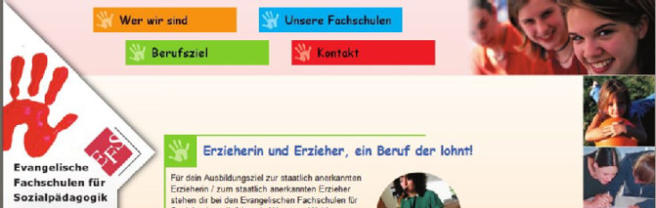 Quelle: Website Evang. Fachschulen - Screenshot