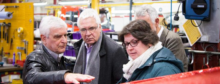 Mitarbeiter des KDA's in einem Betrieb; Quelle: KDA Baden